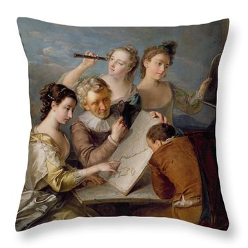 The Sense Of Sight Throw Pillow by Philippe Mercier