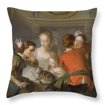 The Sense Of Touch Throw Pillow by Philippe Mercier