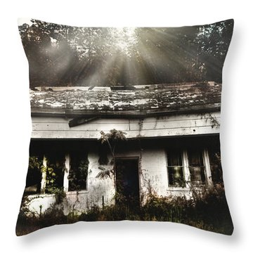 The Shack Throw Pillow by Jessica Brawley