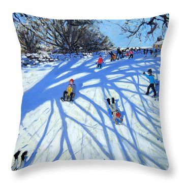 The Shadow Derbyshire Throw Pillow by Andrew Macara
