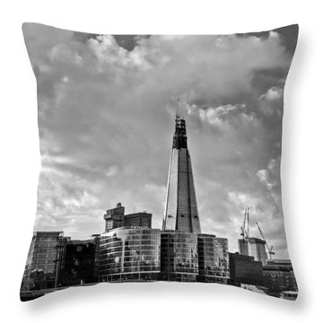 The Shard London Black And White Throw Pillow