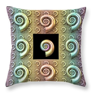 Throw Pillow featuring the digital art The Shell by Manny Lorenzo