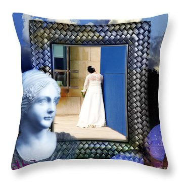 The Shy Bride Throw Pillow