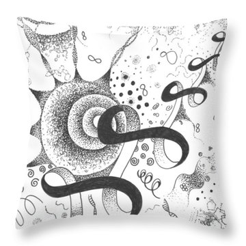 The Silent Dance Of The Particles Throw Pillow by Helena Tiainen