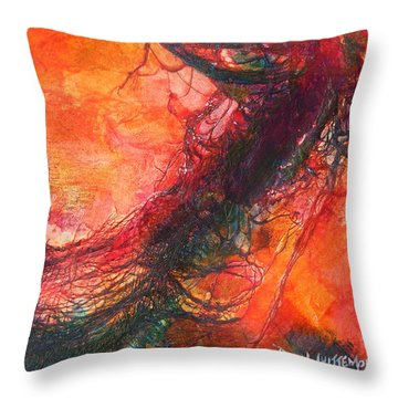 Throw Pillow featuring the painting The Singer by Dan Whittemore