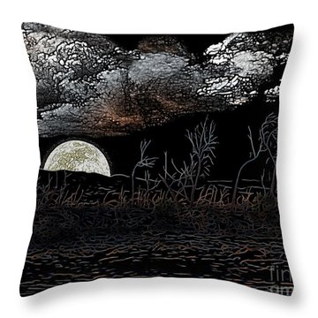 The Sky Is Low Throw Pillow