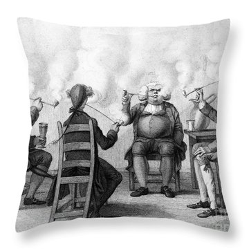 The Smoking Club Throw Pillow by Granger
