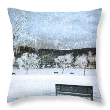 The Snow Storm Throw Pillow by Tara Turner