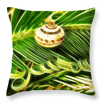 The Spirals Of Life Throw Pillow