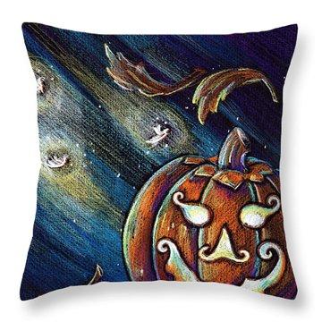 The Spirit Of Halloween Throw Pillow