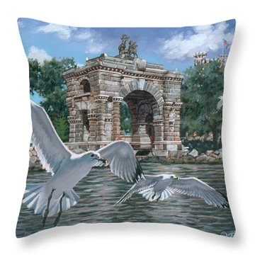The Stone Arch Throw Pillow by Richard De Wolfe