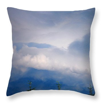 The Storms Brewing  Throw Pillow