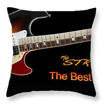 The Strat Les Guitar Throw Pillow by Mike McGlothlen