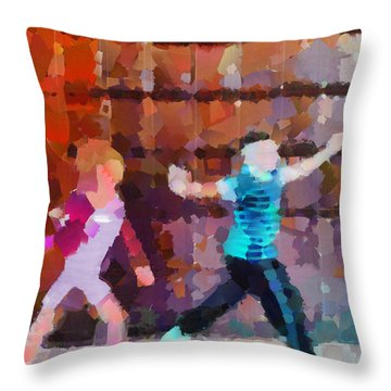 The Striders Throw Pillow by Steve Taylor