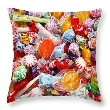 The Sugar Rush Square Throw Pillow by Andee Design