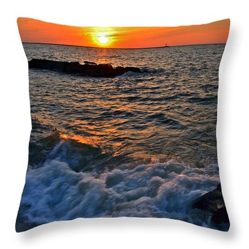 The Sun Is Wearing Shades Throw Pillow by Frozen in Time Fine Art Photography