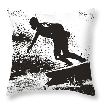 The Surfer Throw Pillow by Brian Roscorla