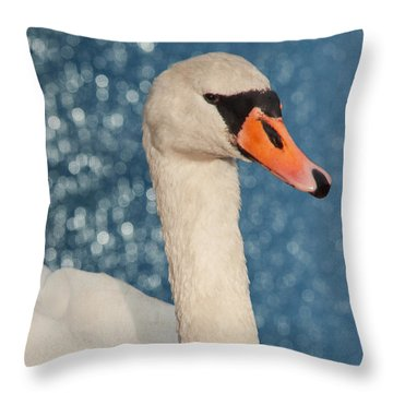 The Swan Throw Pillow by Angela Doelling AD DESIGN Photo and PhotoArt