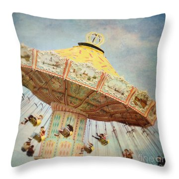The Swings Throw Pillow by Sylvia Cook