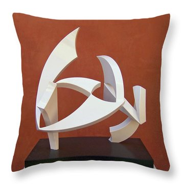 The Taming Of Pegasus  Throw Pillow by John Neumann