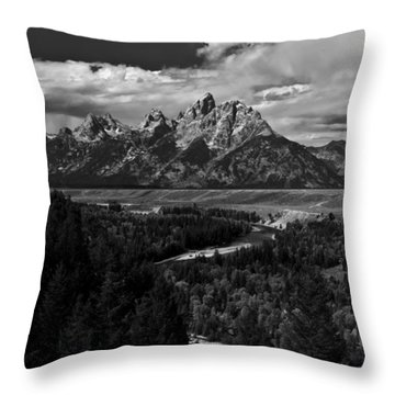 The Tetons - Il Bw Throw Pillow
