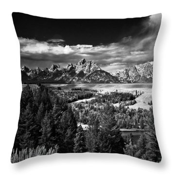 The Tetons Throw Pillow