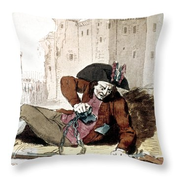 The Third Estate, 1792 Throw Pillow by Granger