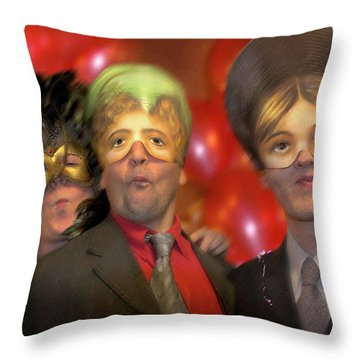 Throw Pillow featuring the photograph The Three Masketeers by Richard Piper