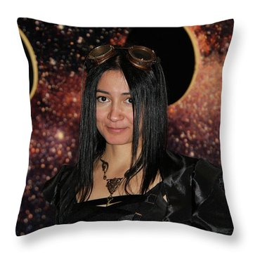 The Time Traveler  Throw Pillow by Mariola Bitner