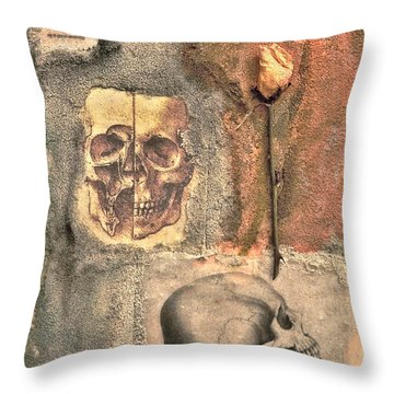 The Tomb Throw Pillow by Catherine Conroy