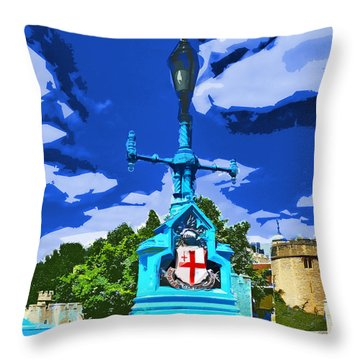 The Tower Lamp Post Throw Pillow by Steve Taylor