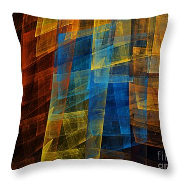 The Towers 1 Throw Pillow by Andee Design
