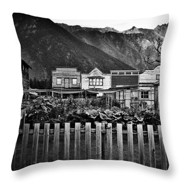 The Town Throw Pillow by Empty Wall