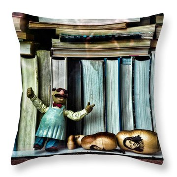 The Tragic Opera Singer Throw Pillow by Bob Orsillo