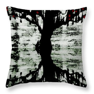 Throw Pillow featuring the painting The Tree The Root by Amy Sorrell