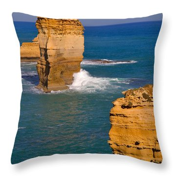 The Twelve Apostles In Port Campbell National Park Australia Throw Pillow by Louise Heusinkveld