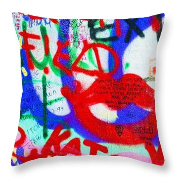 The U2 Wall, Windmill Lane, Dublin Throw Pillow by The Irish Image Collection