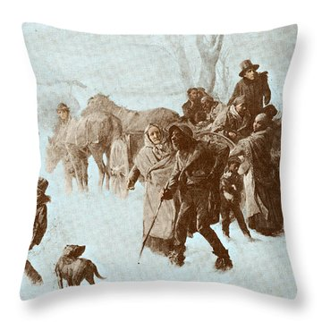 The Underground Railroad Throw Pillow by Photo Researchers