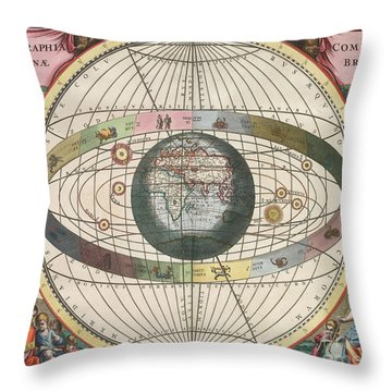 The Universe Of Brahe Harmonia Throw Pillow by Science Source