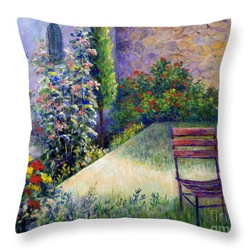 Throw Pillow featuring the painting The Unseen Guest by Lou Ann Bagnall