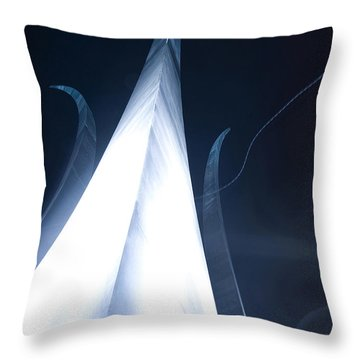 The U.s. Air Force Memorial Stands Throw Pillow by Stocktrek Images