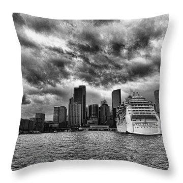 The View To Circular Quay Throw Pillow by Douglas Barnard