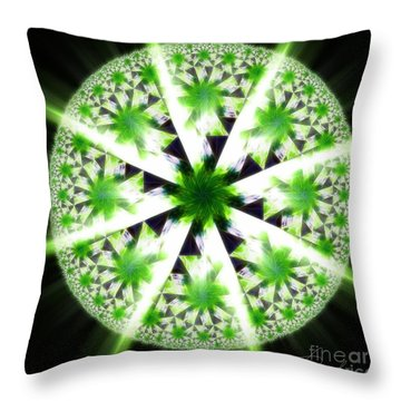The Vision Of The Healer Throw Pillow by Danuta Bennett