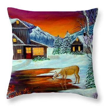 The Visitors Throw Pillow by Fram Cama