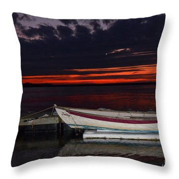 Throw Pillow featuring the photograph The Wait by Margaret Palmer