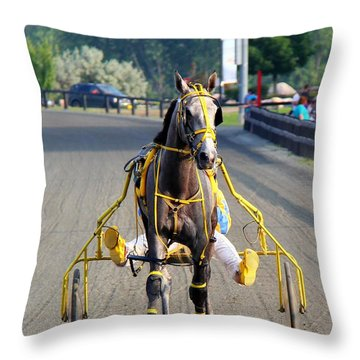 Throw Pillow featuring the photograph The Warm-up by Davandra Cribbie