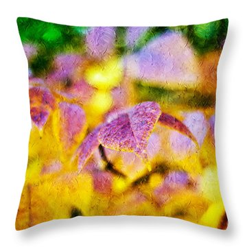 The Warmth Of Autumn Glow Abstract Throw Pillow by Andee Design