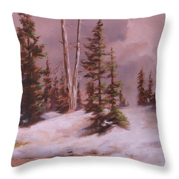 The Wasatch Divide Plein Air Throw Pillow by Mia DeLode