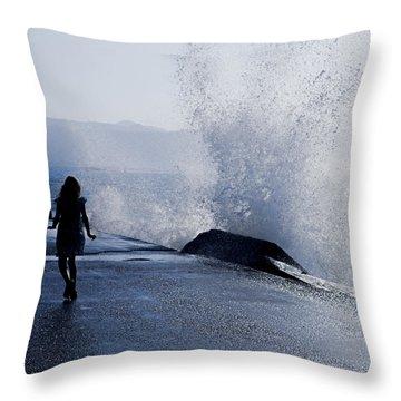 The Wave Throw Pillow by Joana Kruse