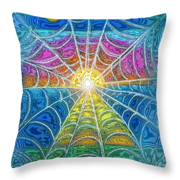 The Web Of Wyrd Throw Pillow by Diana Haronis
